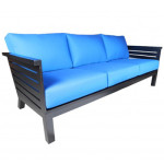 Contemporary Outdoor Sofa - Cabana Coast Aluminum Patio Sofa - Apex Collection