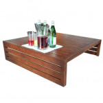 Patio Furniture Accessories - Apex Aluminum Square Coffee Table by Cabana Coast
