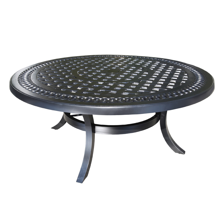 Pure Aluminum 42 Quot Round Coffee Table Patio Furniture At
