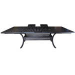 Cast Aluminum Dining Table - Pure Collection - Expandible