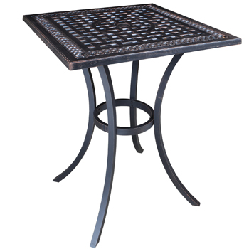 Pure Cast Aluminum 32 Quot Square Bar Table Patio At Sun Country