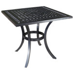 "Pure Cast Aluminum 32"" Square Dining Table"