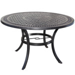 Aluminum Outdoor Furniture - Pure Cast Aluminum 42 Dining Table