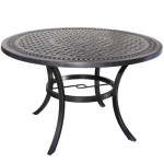 Round Cast Aluminum Patio Table - Pure Collection by Cabana Coast