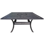 Outdoor Cast Aluminum Dining Table - Large Square by Cabana Coast - Pure Collection