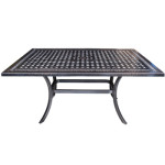 "Pure Cast Aluminum 60"" Dining Table"