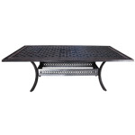 Pure Cast Aluminum Dining Table - Outdoor Furniture by Cabana Coast