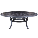 Large Egg Shape Dining Table - Cast Aluminum Patio Furniture by Cabana Coast