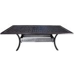 Contemporary Cast Aluminum Patio Furniture - Pure 84 Rectangular Table by Cabana Coast