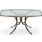 Small Glass Top Rectangular Table