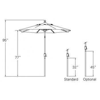 Patio Umbrella 6 Ft Standard Tilt Market Patio At Sun