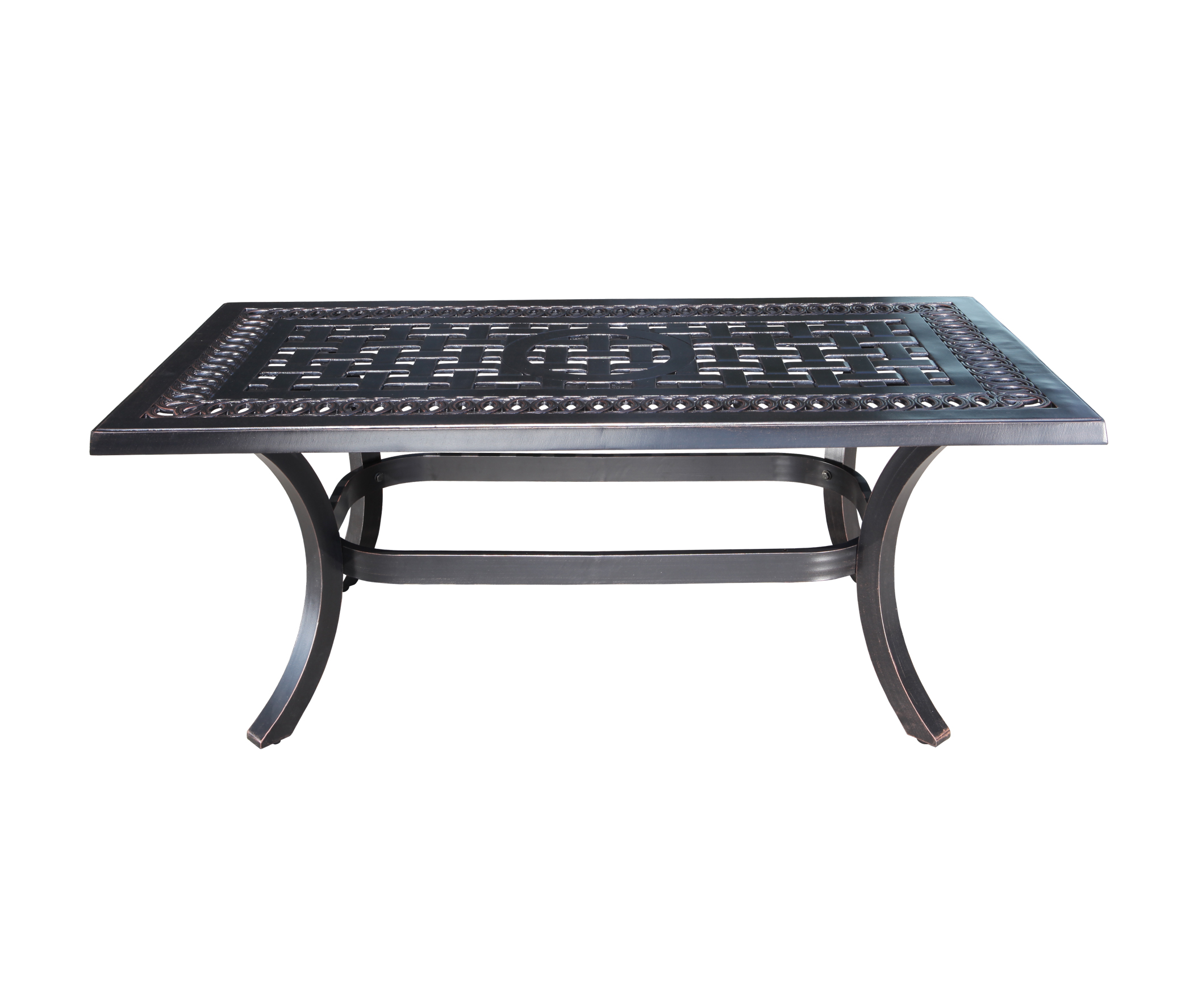 Pure Aluminum Rectangular Coffee Table Patio At Sun Country