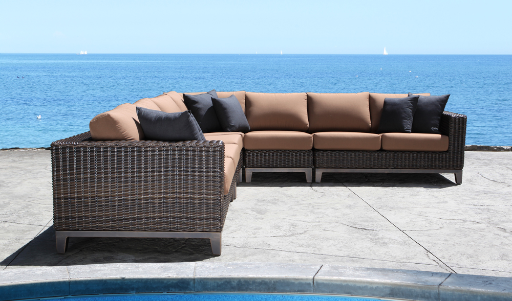 Columbia Wicker Sectional