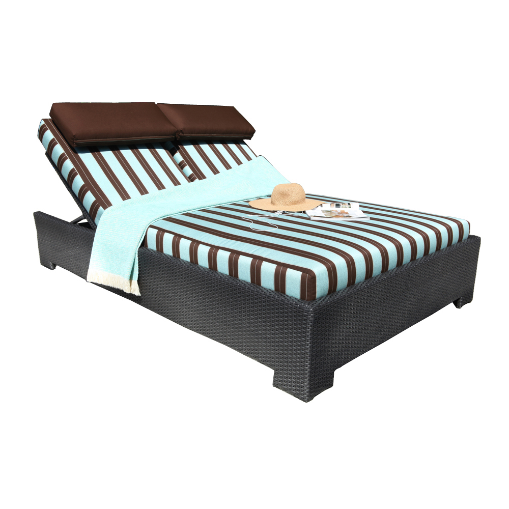 Chorus Deep Seating Wicker Double Chaise Patio At Sun
