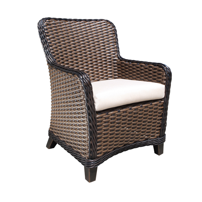 Elora Wicker Dining Chair Sun Country