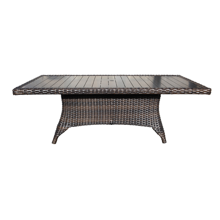 Louvre Wicker Dining 112 Quot Table Patio Furniture At Sun