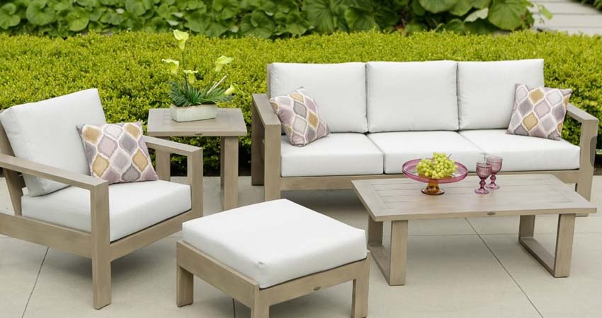 Park Lane Aluminum Deep Seating Patio Furniture