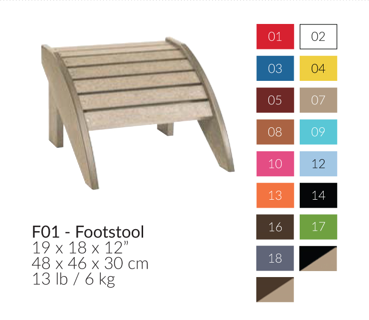 Recycled Plastic Outdoor Footstool Patio Furniture At